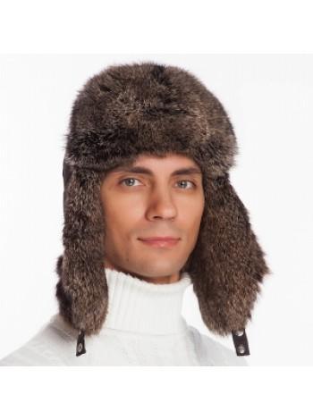 Меховая шапка ушанка натуральная