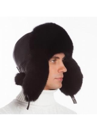 Мужская меховая шапка из песца