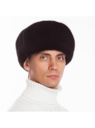 Мужская меховая шапка ушанка норка